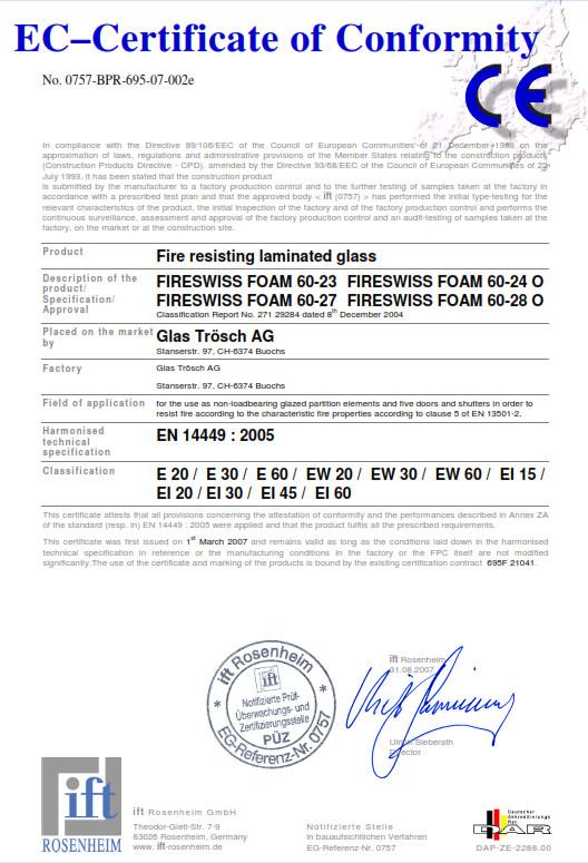 EC Certyfikat E60