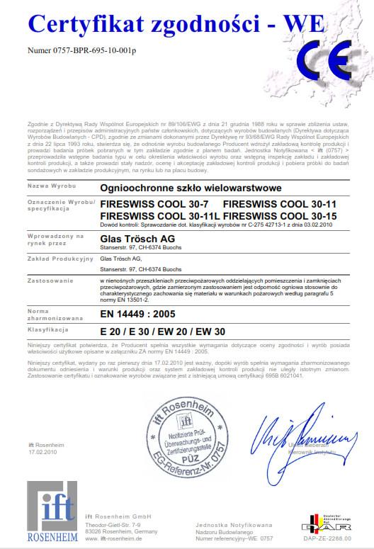 GT FIRESWISS CE FSC 30 PL